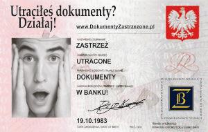 Zastrzeganie dokumentów tożsamości